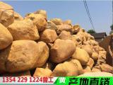 企业园林点缀石,黄蜡石点缀石头运用