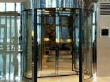 纯铜自动旋转门定做,不锈钢三翼旋转门制作,德普尔门业