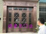 石家庄纯铜门定做,酒店铜门设计制作,德普尔门业