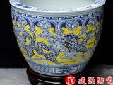 景德镇陶瓷泡澡缸厂家 洗浴中心用的大缸 温泉独产式泡澡大缸