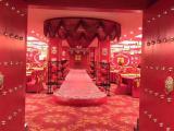 中式酒店大堂吊顶彩绘古建艺术吊顶厂家直销