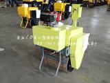 草皮碾子柴油电启手扶单轮压路机轻便易操作微小型压路机带振动