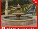 室外大型石材流水雕塑 石雕水钵 花岗岩水钵 庭院喷泉