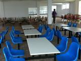河北厂家供应员工食堂餐桌椅,学校四人六人不锈钢面餐桌价格