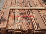 做旧处理碳化木 花旗松碳化木 表面碳化加工