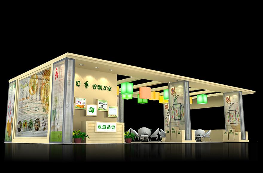 食品饮料展 日日香展览展示 展台3d模型图片