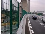 道路钢板隔离网 桥梁绿色防护网 框架护栏网