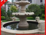 黄锈石水钵 石雕喷泉雕塑 小区别墅喷水池设计
