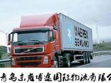 21青岛集装箱车队框架开顶柜超限运输