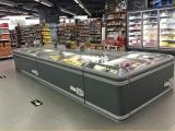 超市低温组合岛柜 定做自动化霜冷冻柜 冷冻食品展示柜
