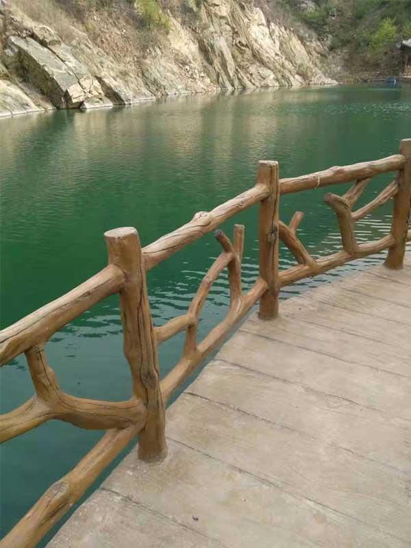 台州河道景观仿木围栏 济南神斧景观经验丰富