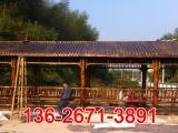 景观防腐木长廊 双层八角凉亭厂家