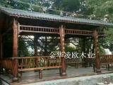 防腐木长廊生态园廊架