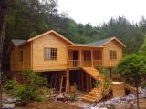 重庆生态木屋防腐木木屋民俗木屋轻型木屋木房子价格