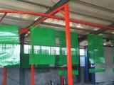 跃华环保  爬架网,冲孔网涂装生产线