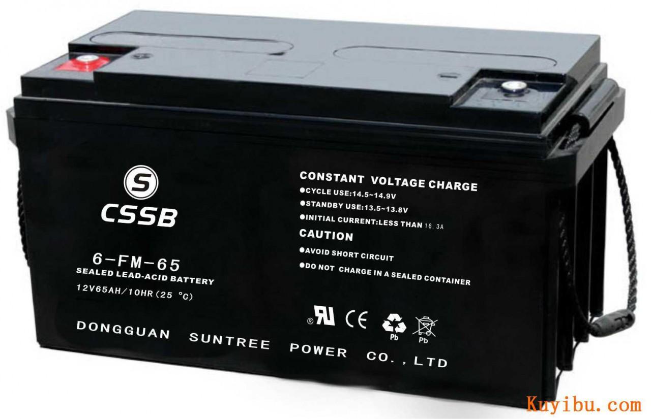 CSSB沈松蓄电池6-FM-75铅酸免维护正品12V75AH