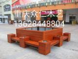 重庆哪儿有做防腐木花箱碳化木花车的厂家