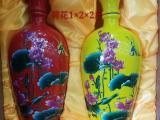 2斤荷花陶瓷酒具加字定做 陶瓷酒瓶1斤供应