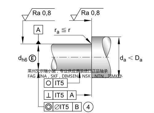 宁海德国进口轴承:供应德国INA推力角接触球轴承ZKLF3080-2RS-PE