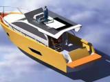 13.9米铝合金游艇三层带飞桥 100万左右的私人游艇