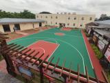 丙烯酸篮球场 水性丙烯酸材料 硬地篮球场|羽毛球场|网球场