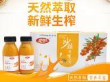 批发乐含沙棘汁西北特产微商版200ml*10瓶装沙棘汁