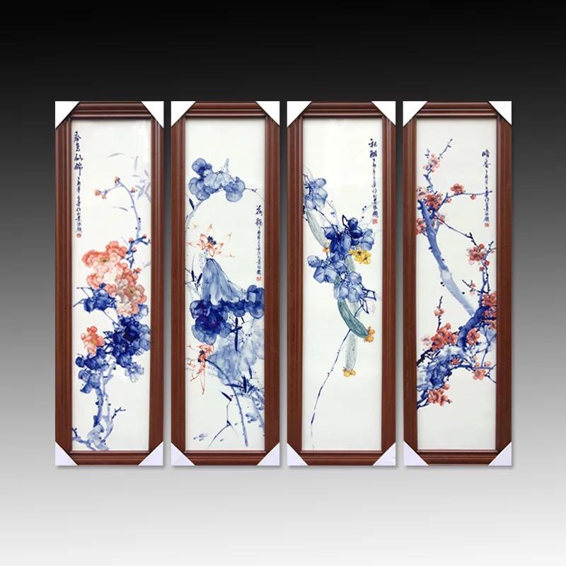 手繪大型瓷板畫定制價格瓷板畫手繪廠家