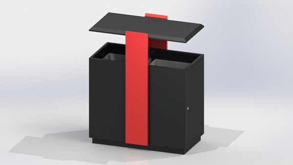 宁夏聚典工贸 环保垃圾箱分类 灵武垃圾箱