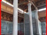 石雕柱子厂家 石雕文化柱 花岗岩圆柱