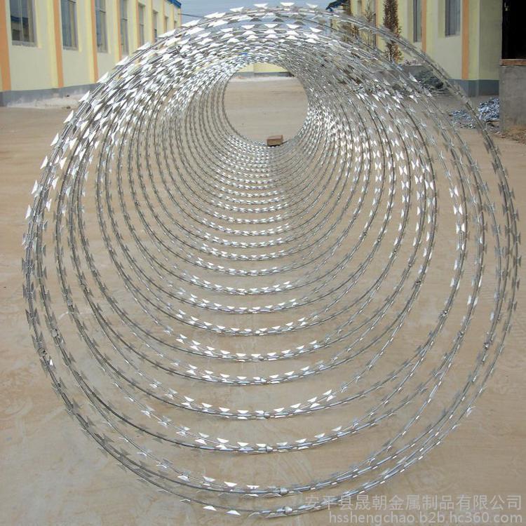 康格-刺絲滾籠 高鐵專用刺絲滾籠 不銹鋼刀片刺繩廠家直銷供應