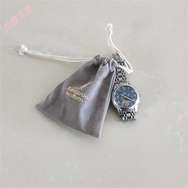 兰庭工艺品厂 束口绒布袋制品 束口绒布袋