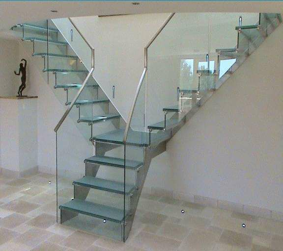 玻璃樓梯廠 晉瑤木業 葫蘆島玻璃樓梯