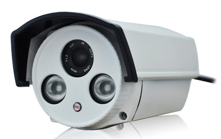 监控摄像机批发1200线红外高清防水探头双灯内置切换夜视效果好 宝士利