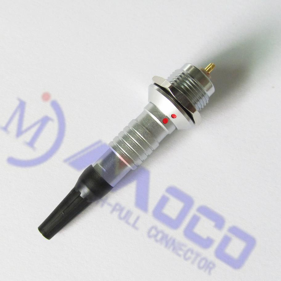 深圳莫科连供应金属防水推拉连接器4芯防水插头 MOCO 插头/插座 推拉自锁