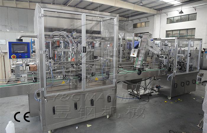 香波6头全自动灌装生产线 昱钢机械 全自动 整机保修一年