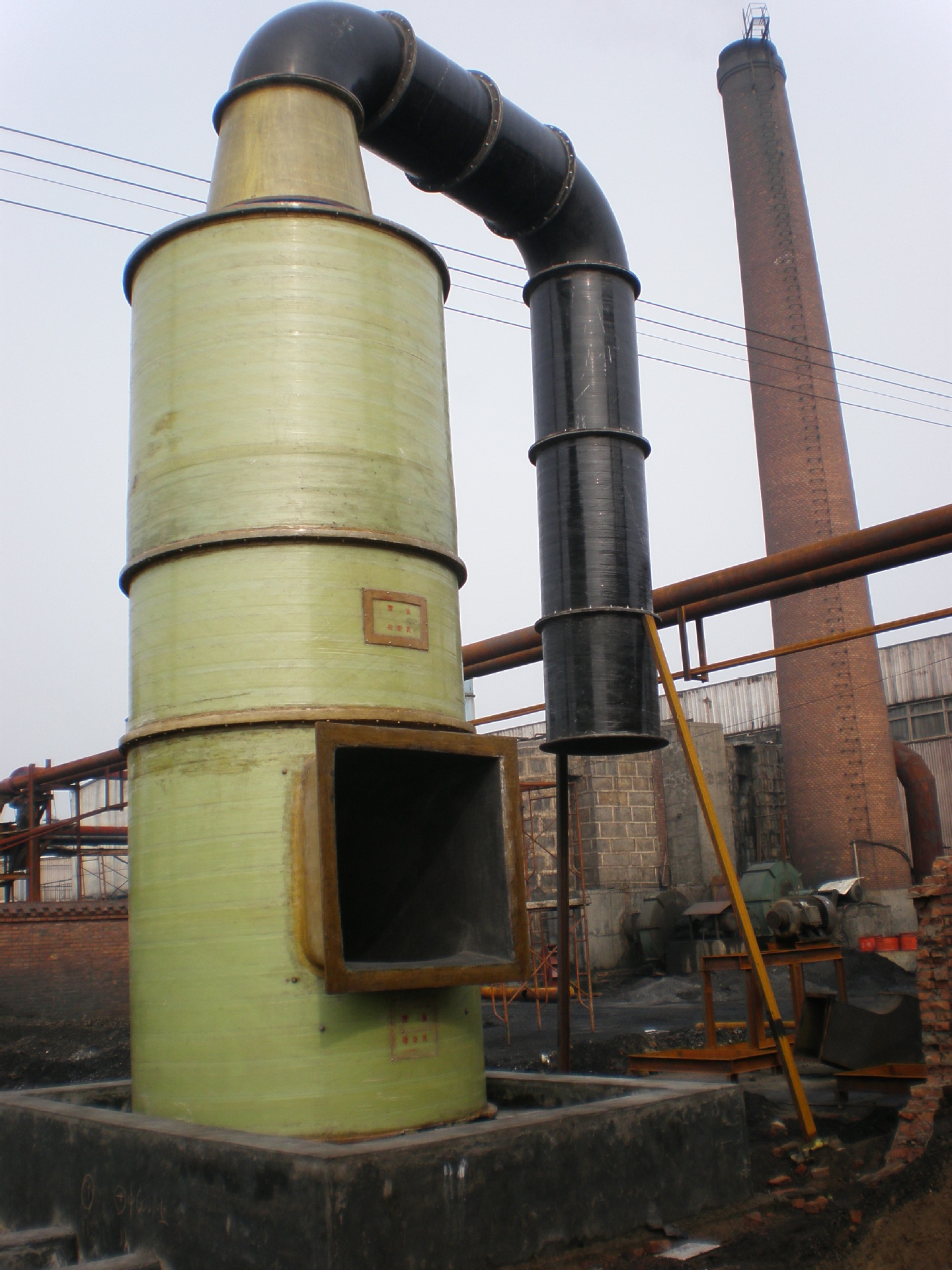 环保设施玻璃钢酸雾污染塔 湿式除尘器 曼吉科