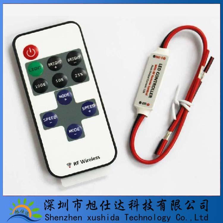 LED单色管制器灯带调光器RF无线射频遥控器灯带led管制器