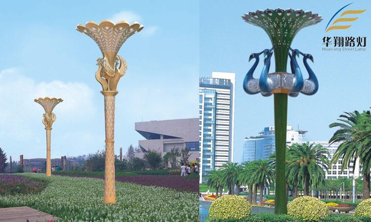 方形中式led景观灯广场小区公园风景区景观灯3米不锈钢外型景观灯图片