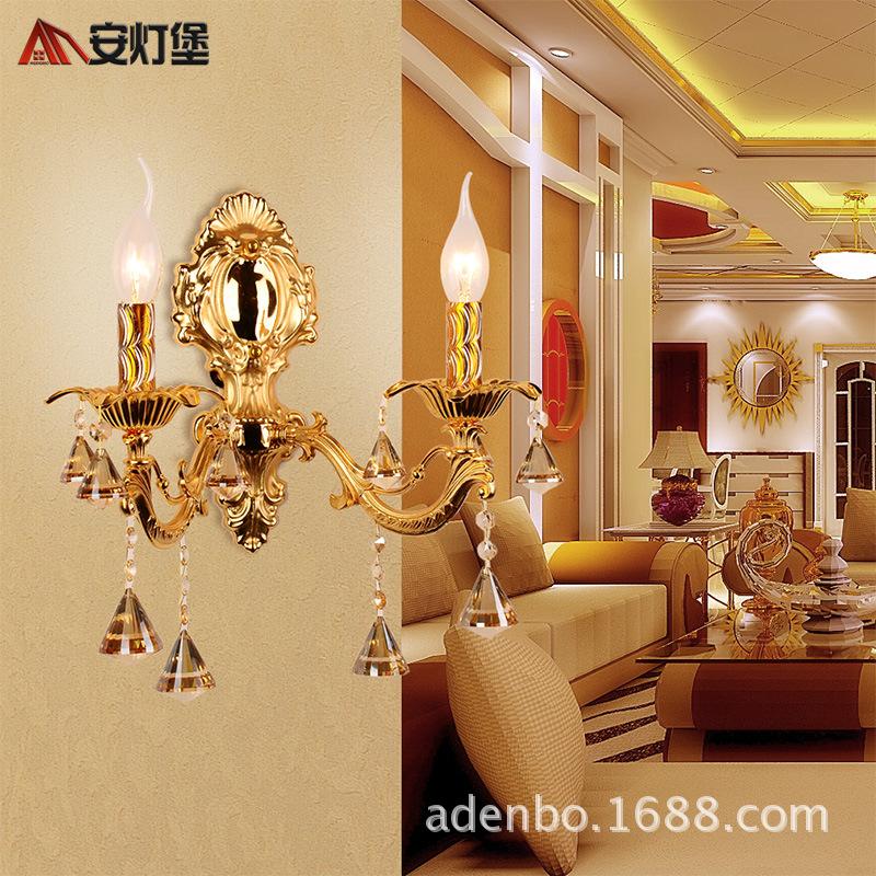 水晶壁灯客厅灯卧室灯锌合金高档单头双头供应壁灯962