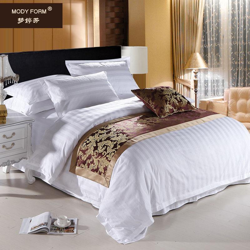 东莞酒店床上用品三 梦婷芳 四件套 涤棉,纯棉 床罩式