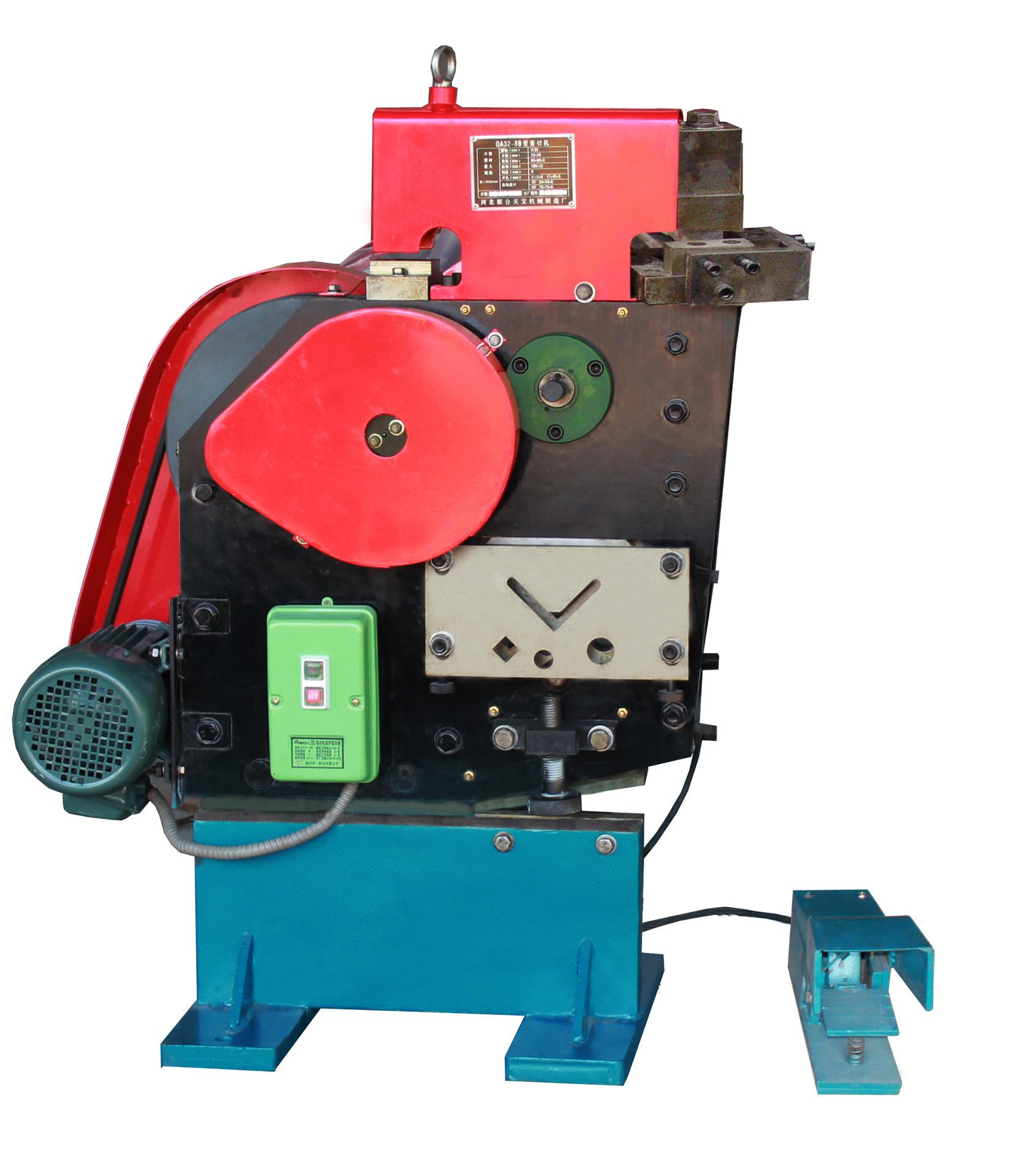 多性能圆钢方钢角钢剪切机联结冲剪机冲孔切角厂家直销欢送订购
