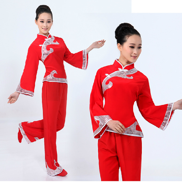 加工订做成人民族舞舞台上演服零售秧歌服舞蹈衣服装女