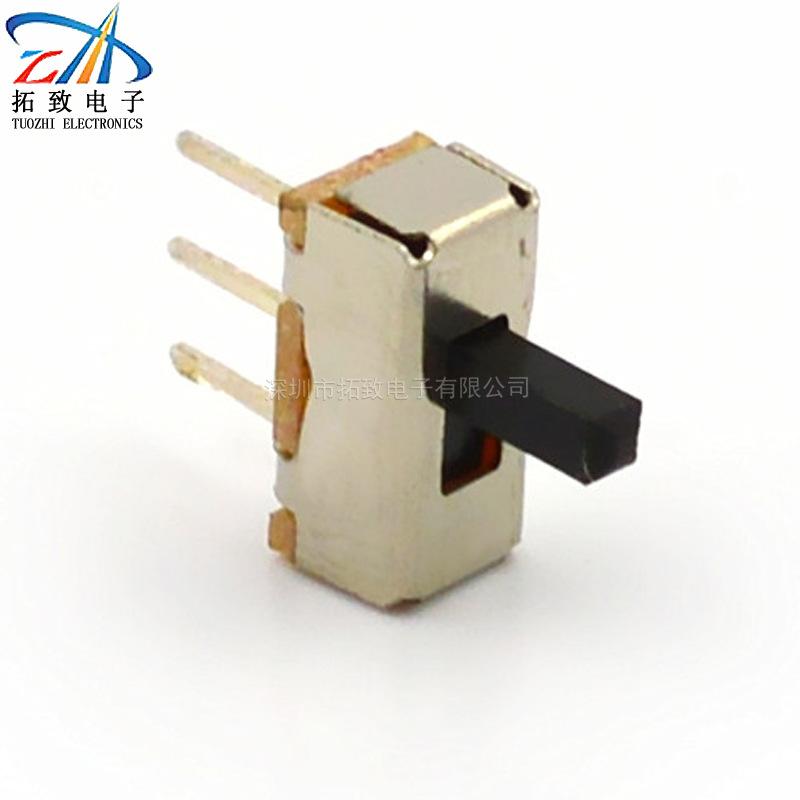 立式滑动开关拨动开关直插SS12D00 单极双位 ROHS 电子产品