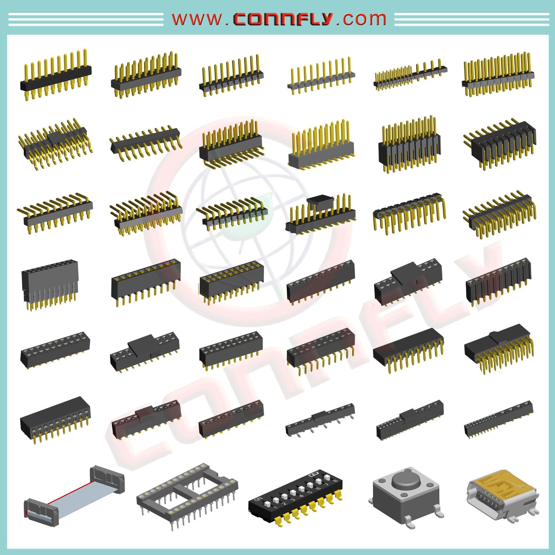 智能电表接插件 CONNFLY 排针/排母/排线 PCB IDC 阻火/阻燃