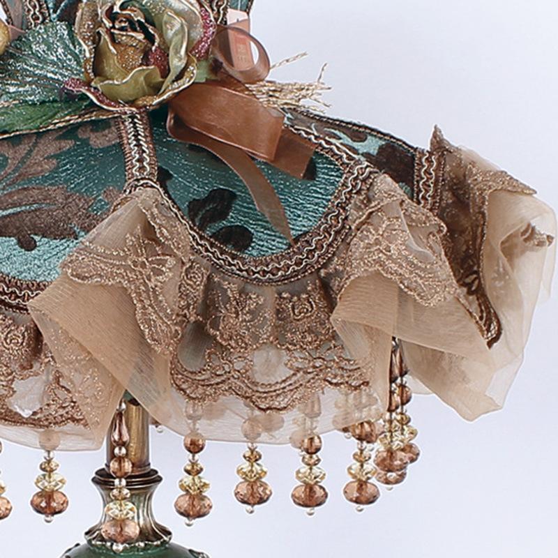 康乐屋家居饰品创意新款台灯欧式蕾丝落地灯布艺落地灯厂家零售