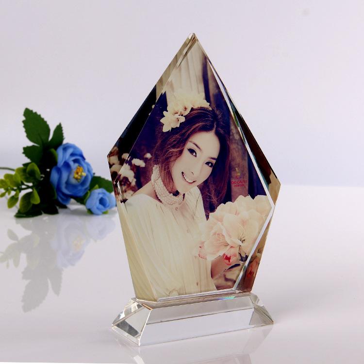 厂家直销人造水晶影像零售 白水晶 水晶影像 礼盒包装