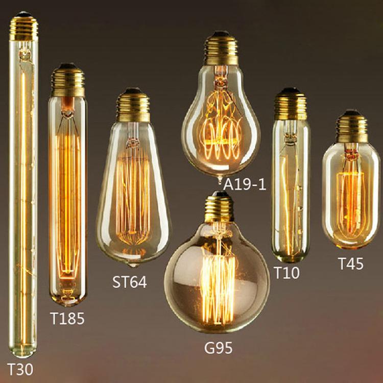 简约创意艺术装饰白炽灯钨丝灯E27螺口个性复古光源