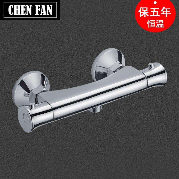 开平厂家直销欧式恒温温控全铜冷热淋浴水龙头混水阀卫浴水暖批发