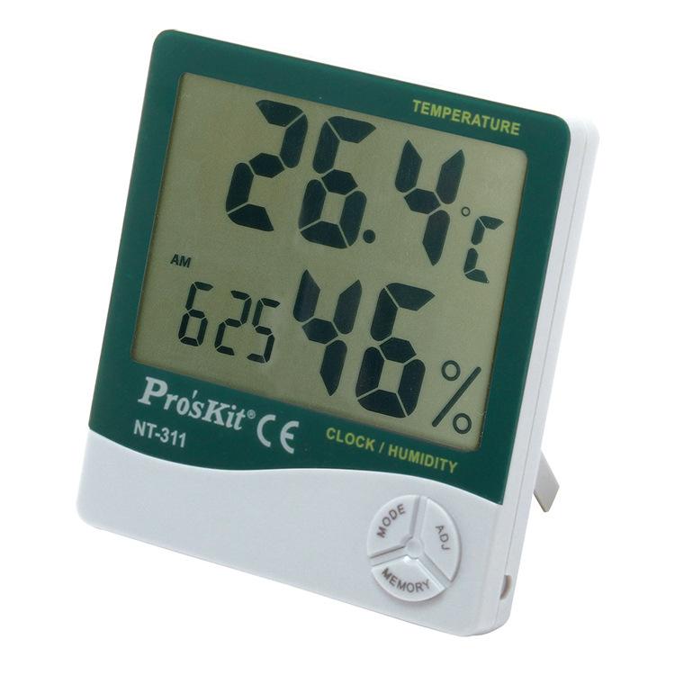 高精度工业家用室内电子 Prokits/宝工 数字式温湿度计