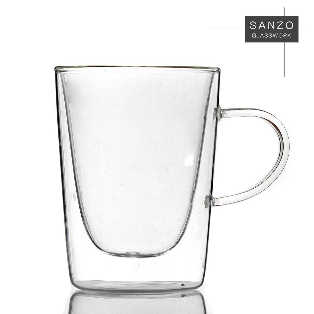 高硼硅双层玻璃杯 Sanzo 高硼硅玻璃 圆柱形